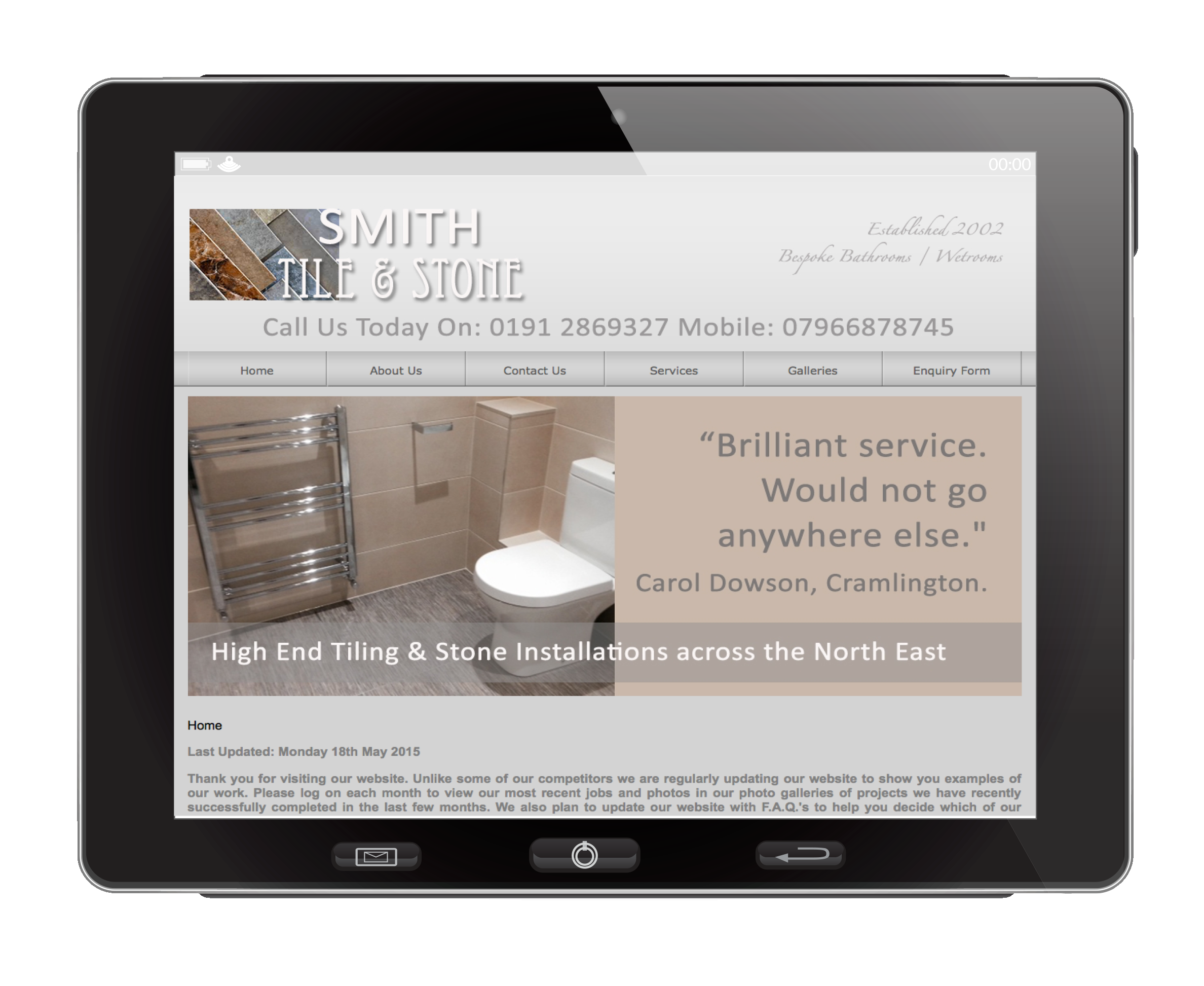 Smith Tile & Stone iPad